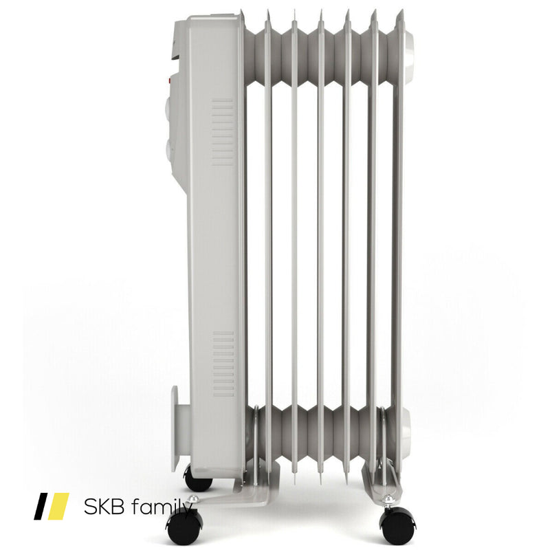 1500w 7-Fin Portable Electric Oil Filled Radiator Heater 200815-24524