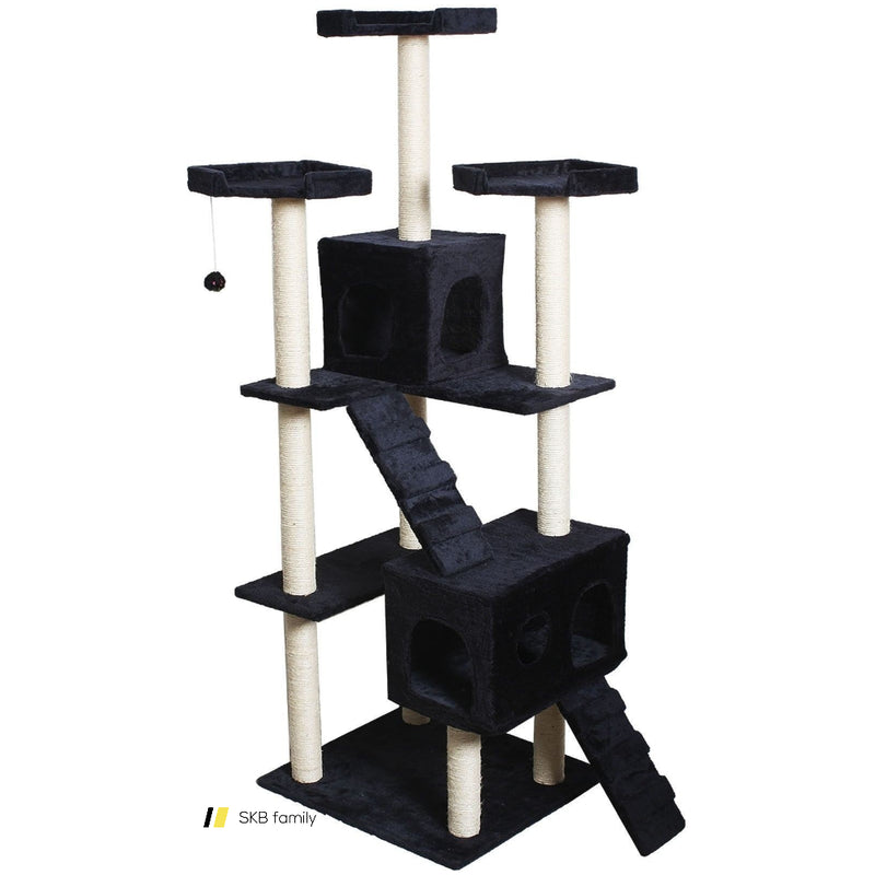 "70"" Condo Sisal-Covered Scratching Posts Cat Tree 200815-24529"