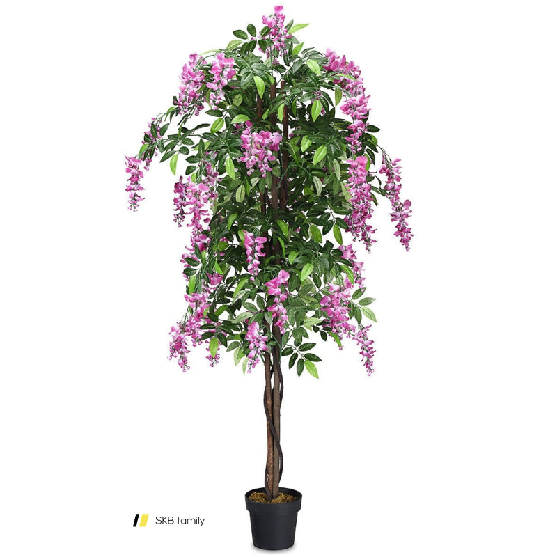 6-Feet Artificial Wistera Silk Indoor-Outdoor Tree 200815-24559