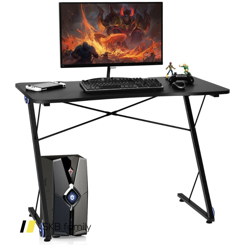 Z Shape Gaming Desk W/ Led Lights 200815-24564