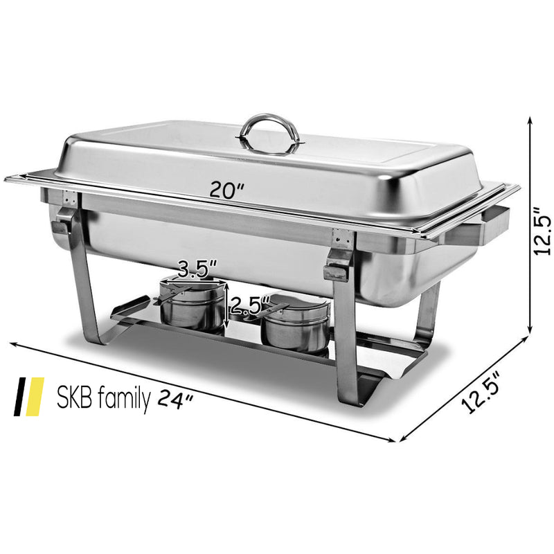 4-Pack Of Full Size Tray 8 Quart Stainless Steel Chafer For Buffet 200815-24568