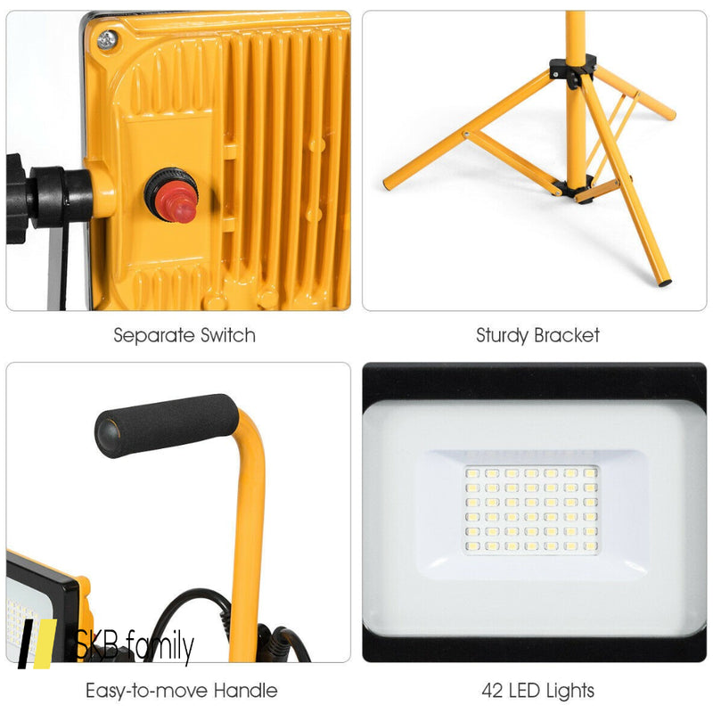 60w 6000 Lm Led Work Light With Metal Tripod Stand 200815-24569