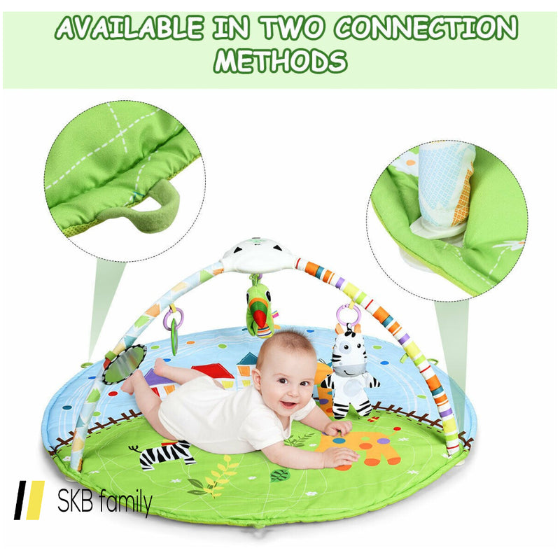 Baby Activity Educational Gym Play Mat With Hanging Toys 200815-24584