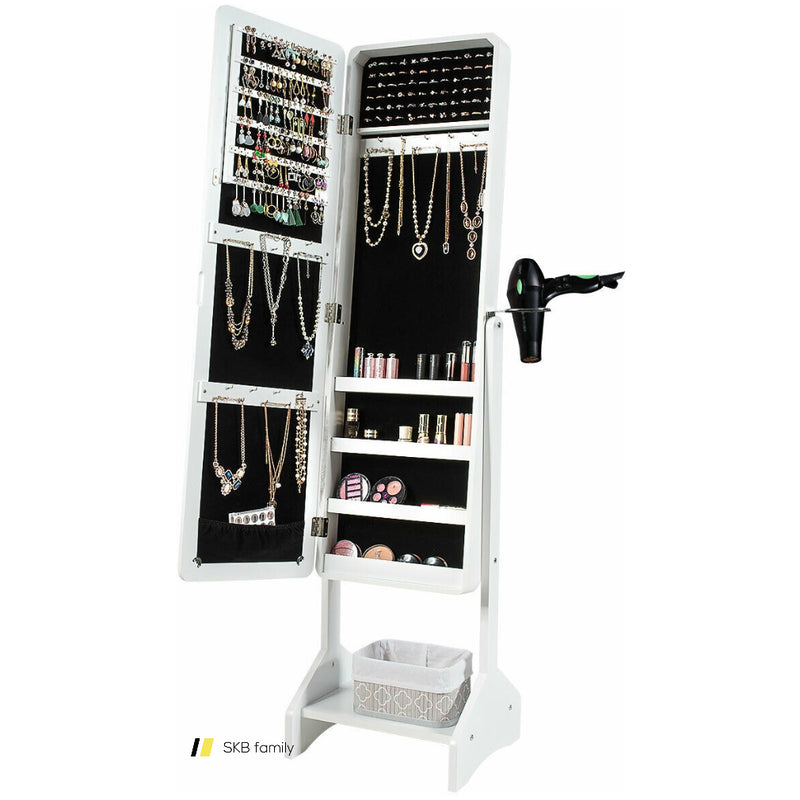 Standing Jewelry Cabinet With Full-Length Mirror 200815-24593