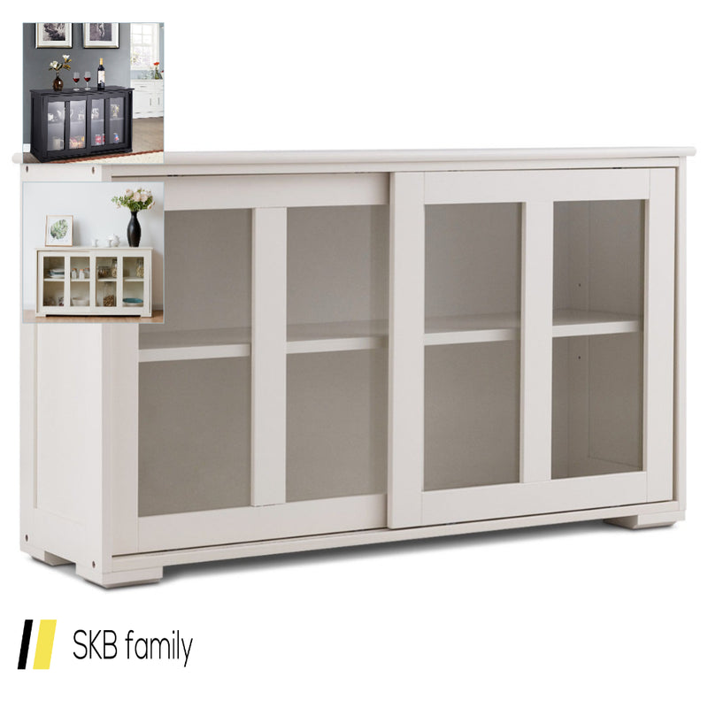 Sideboard Buffet Cupboard Storage Cabinet With Sliding Door 200815-24610