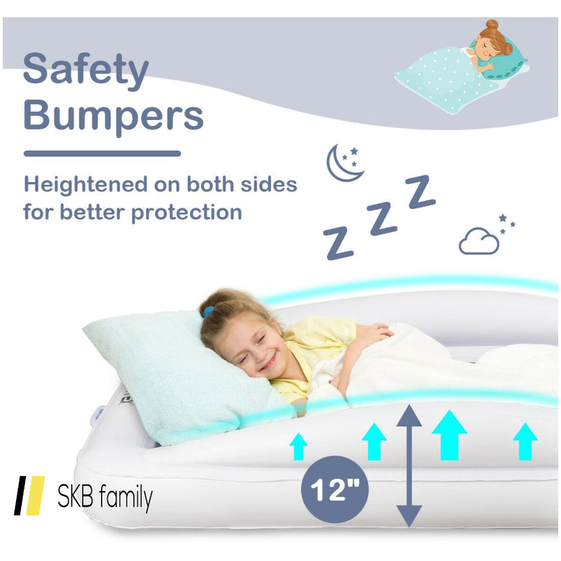 Inflatable Toddler Travel Bed With Safety Bumpers 200815-24614