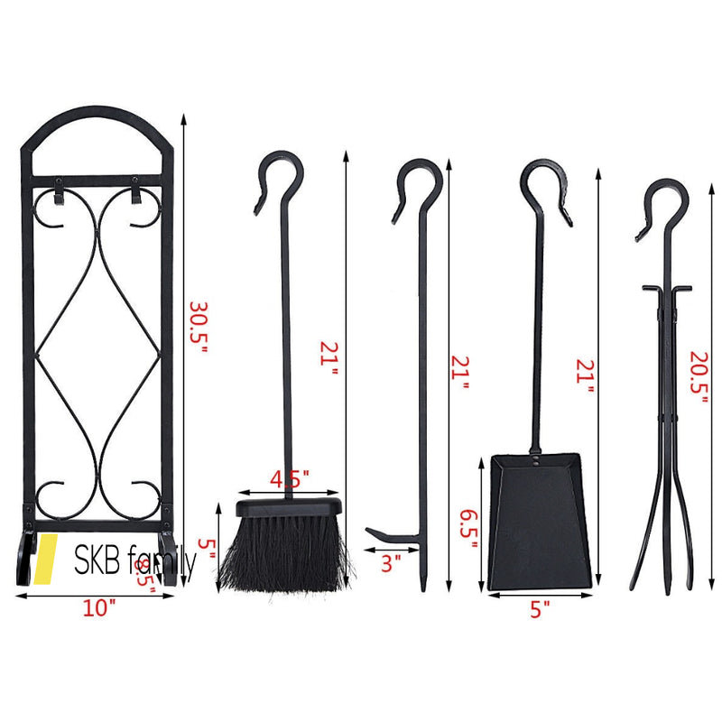 5 Pieces Hearth Fireplace Tools Set 200815-24651