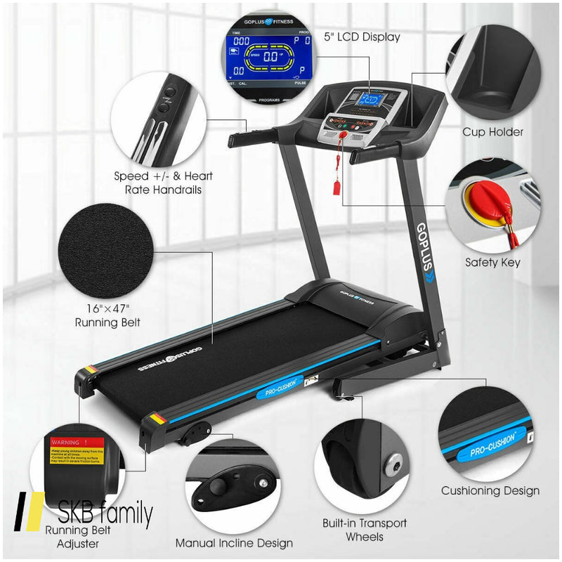 2.25 Hp Folding Electric Treadmill Motorized Power Running Machine 200815-24667