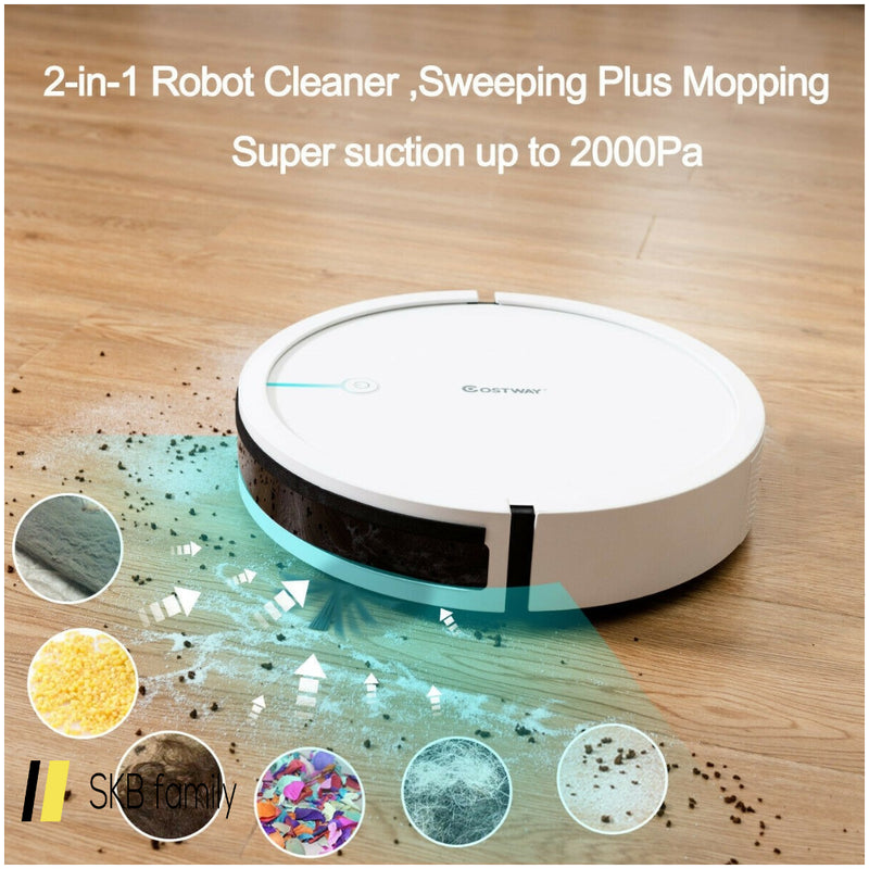 Robot Vacuum Cleaner 2000 Pa Strong Suction Filter 200815-24670