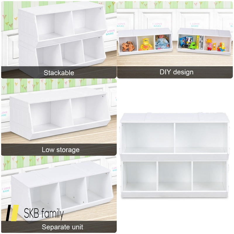 Kids Flexible Stackable Toy Box Organizer Storage Cabinet 200815-24752