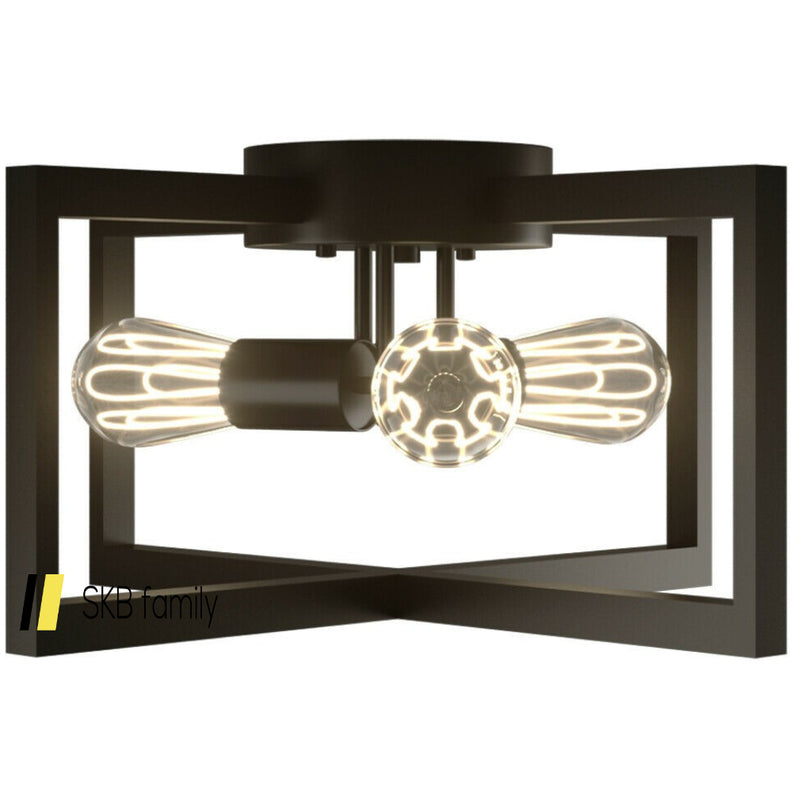 Flush Mount Geometric Metal 3-Lights Ceiling Lamp 200815-24795