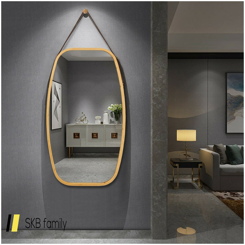 "30""Modern Rectangle Wall Hanging Framed Mirror 200815-24797"