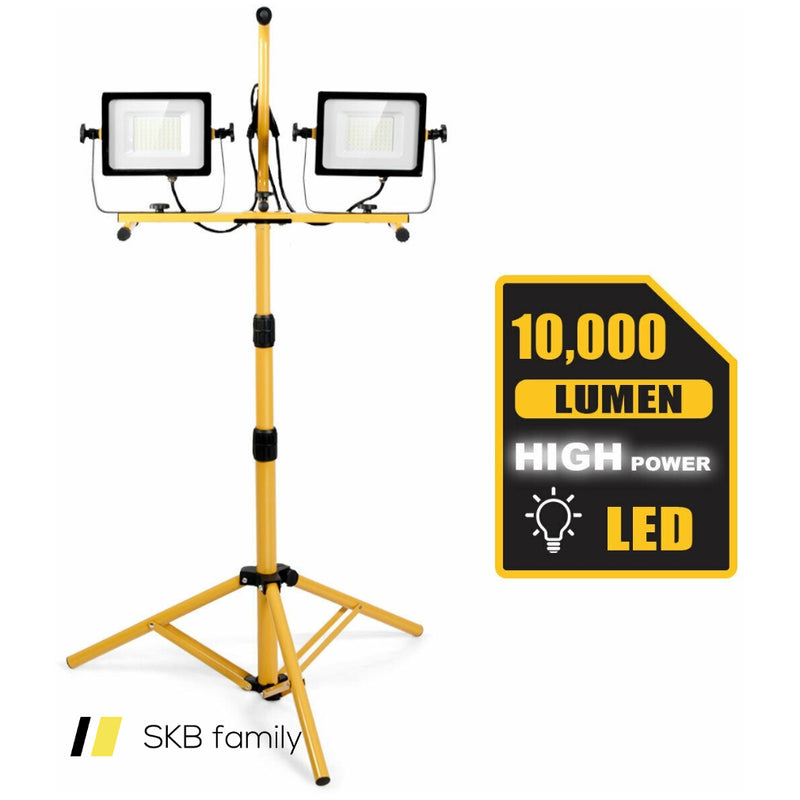 100 W 10,000 Lm Led Dual-Head Work Light With Stand 200815-24818