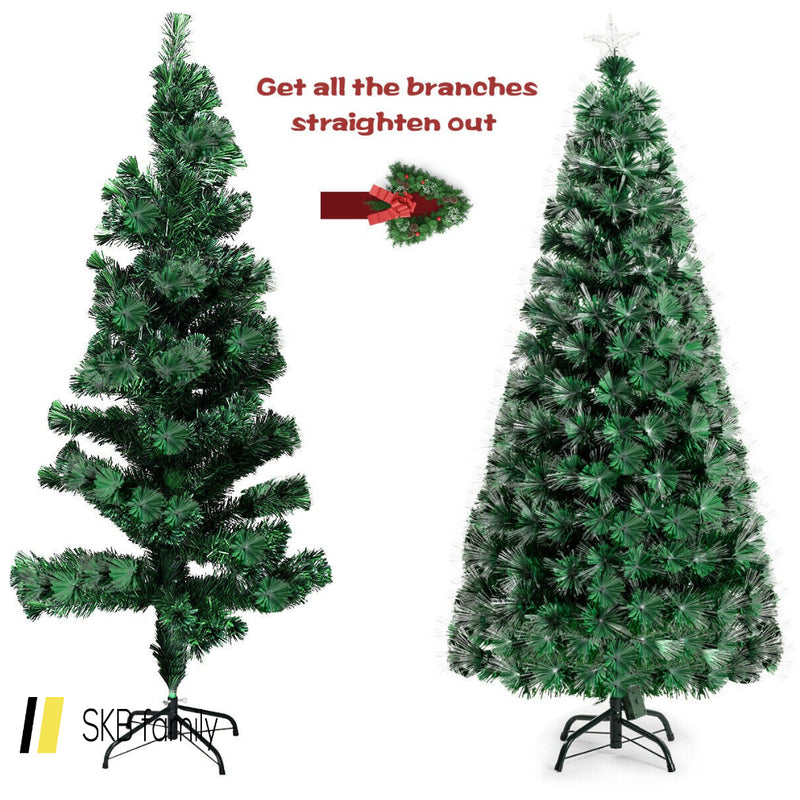 7ft Double-Color Lights Fiber Optic Christmas Tree 200815-24824