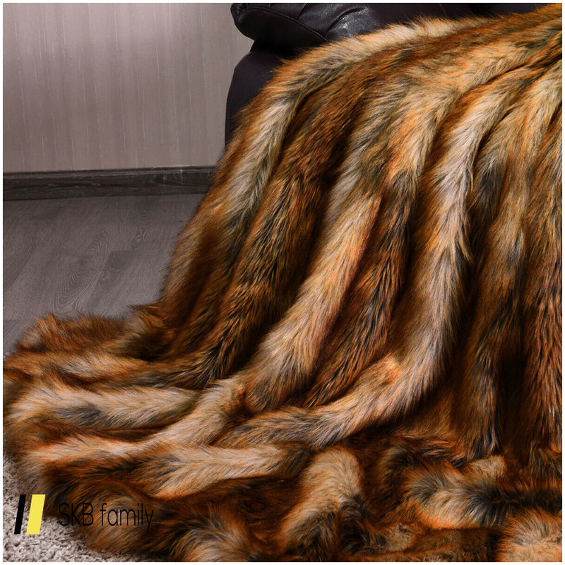 Soft Warm Fluffy For Bed Luxury Plush Faux Fur Blanket 200815-24828