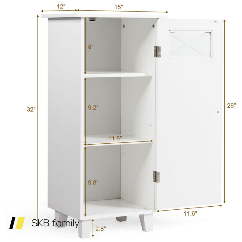 Bathroom Cabinet Free Standing Storage Side Table Organizer 200815-24831