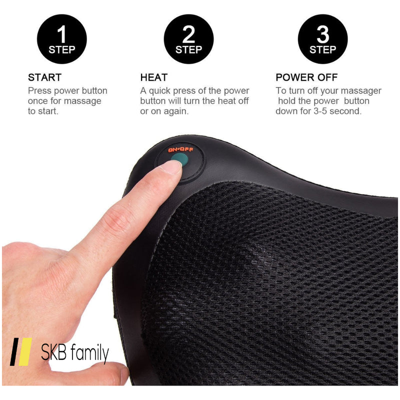 Shiatsu Shoulder Neck Back Massage Pillow 200815-24834