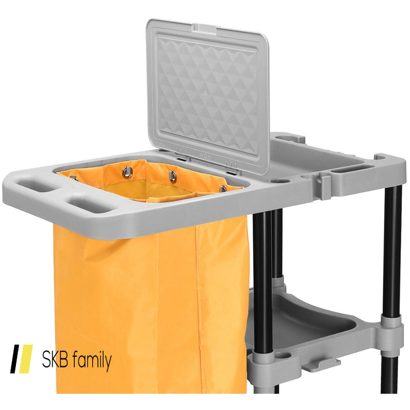 Commercial Janitorial Cleaning Cart 3 Shelf Housekeeping Ultility Cart 200815-24844