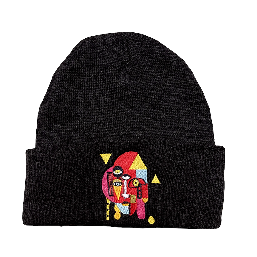 """Triangle Man"" embroidered beanie"