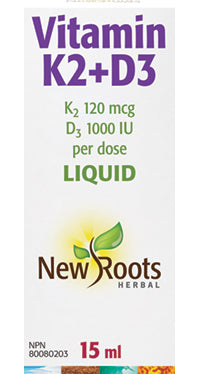 Vitamin K2+D3, New roots (liquid) 15ml