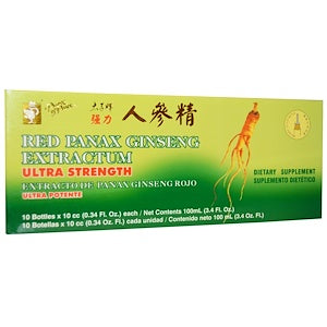Prince of Peace, Red Panax Ginseng Extractum, Ultra Strength, 10 Bottles, 0.34 fl oz (10 cc) Each