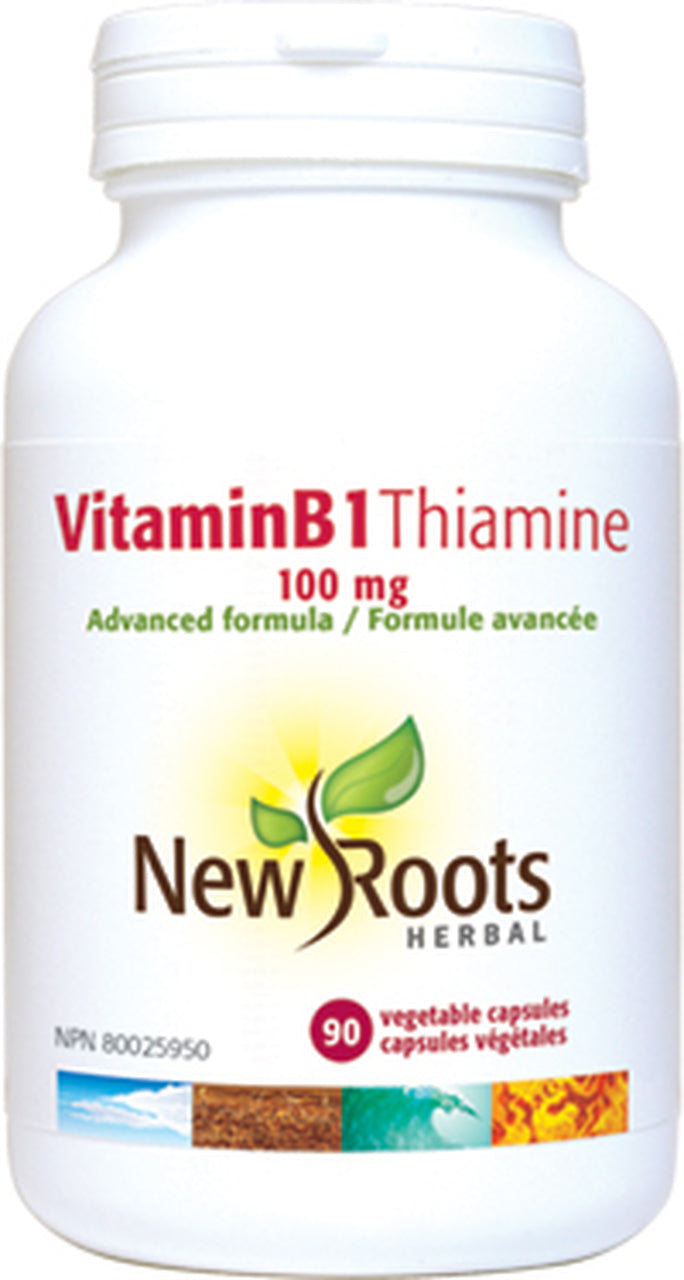 New Roots Herbal: Vitamin B1 Thiamine (100mg) (90 Capsules)