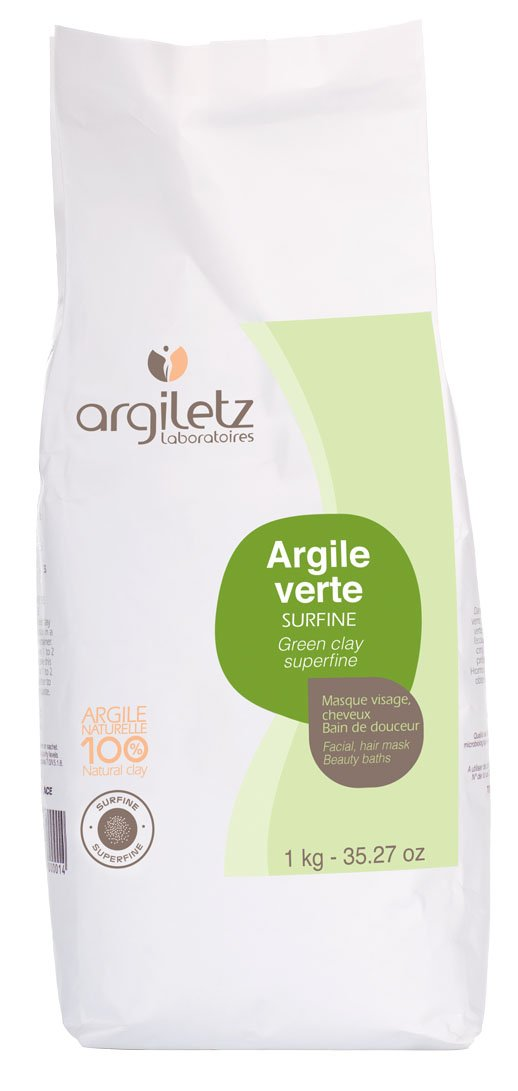 Surfine Green Clay for Oily Skin, ARGILETZ 1kg