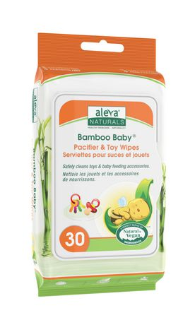 Aleva Naturals Bamboo Baby Pacifier & Toy Wipes - 30 Count