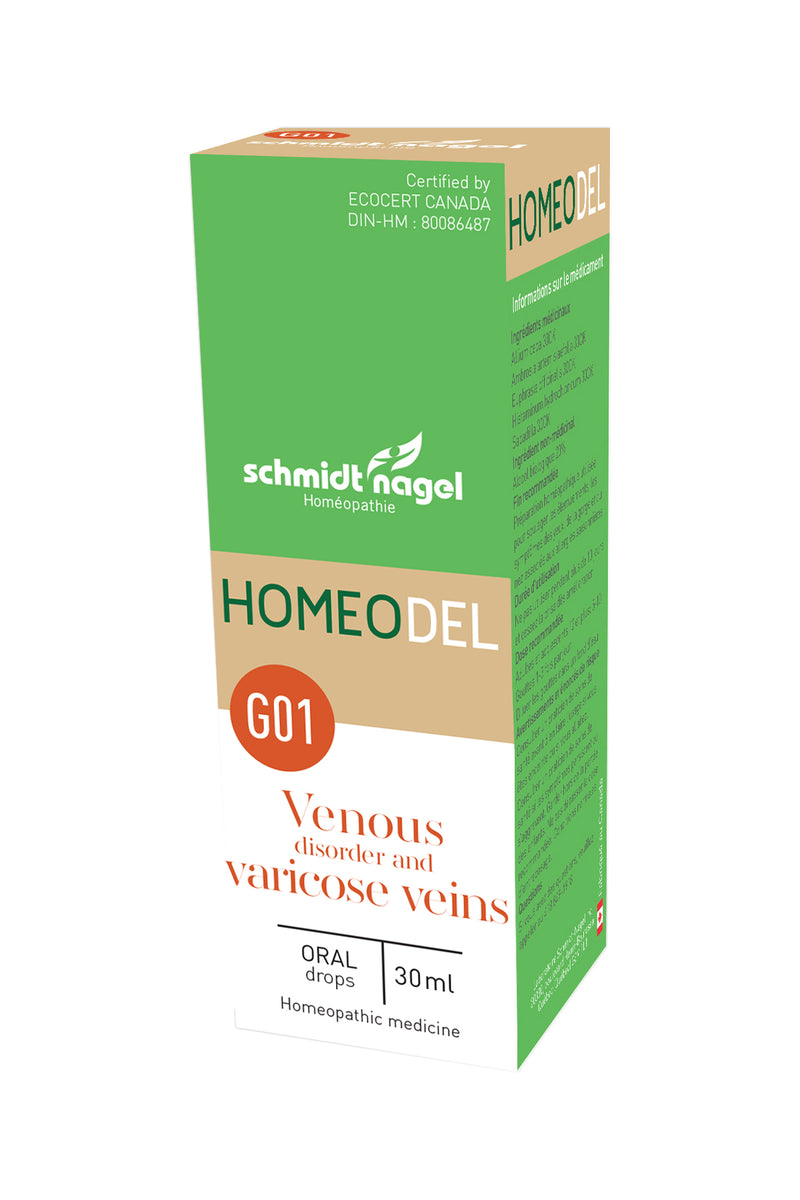 HOMEODEL G01 - Varicose Veins, SchmidtNagel (Drops, 30ml)