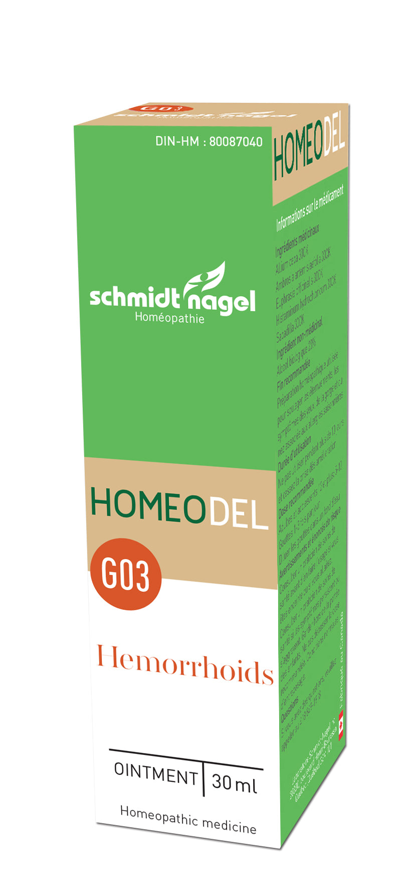 HOMEODEL G03 - Hemorrhoids, SchmidtNagel (Pommade, 30ml)