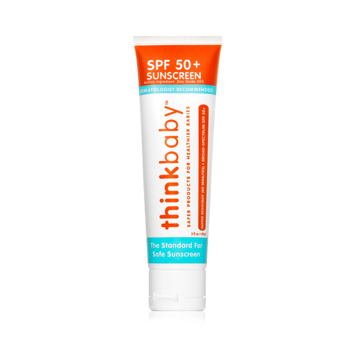Thinkbaby - Safe Sunscreen SPF 50+, Broad Spectrum Protection, 3oz