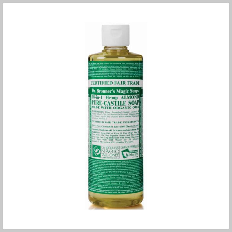 Dr. Bronner's Castile Hands Liquid Soap Organic Almond 237ml