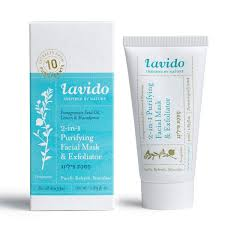 Lavido (Raw Elements) 2-in-1 Purifying Facial Mask and Exfoliator - 50ML