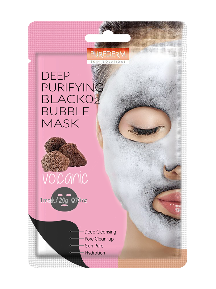 Purederm Deep Purifying Black O2 Bubble Mask