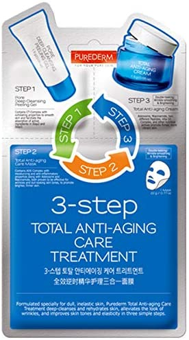 Purederm 3 Step Total Anti aging care treatment-1   Mask Sheet