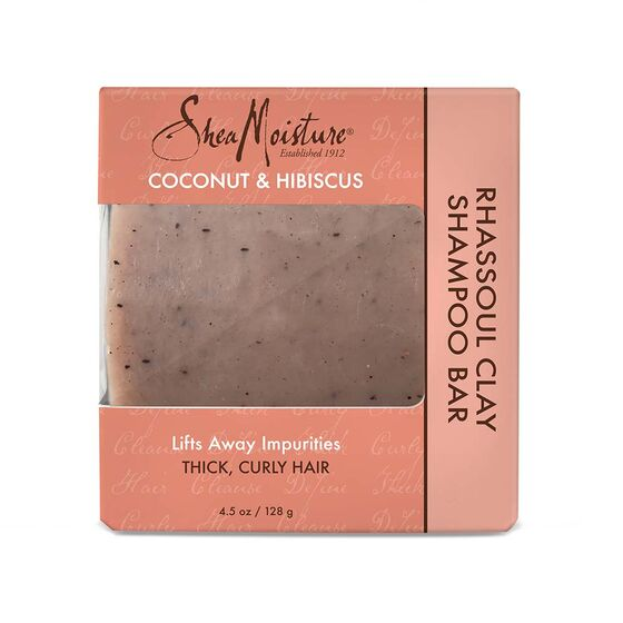 Shea Moisture Coconut and Hibiscus Rhassoul Clay Shampoo Bar for Unisex, 4.5 Ounce