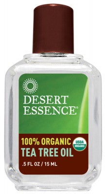 Desert Essence, 100% Organic Tea Tree Oil, .5 fl oz (15 ml)