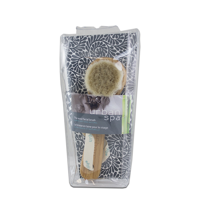 The bamboo and wool facial brush