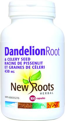 Dandelion Root and Celery Seed, New roots (100 caps)