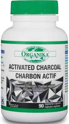 Activated charcoal, Organika (90 caps)
