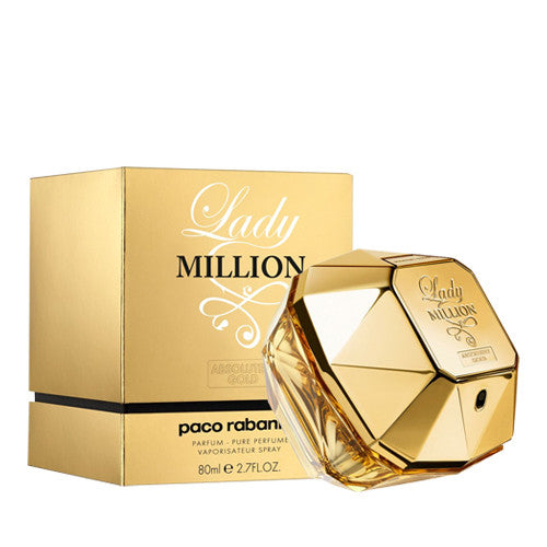 Absolutely Gold Lady Million Pure Parfum by Paco Rabanne For Woman