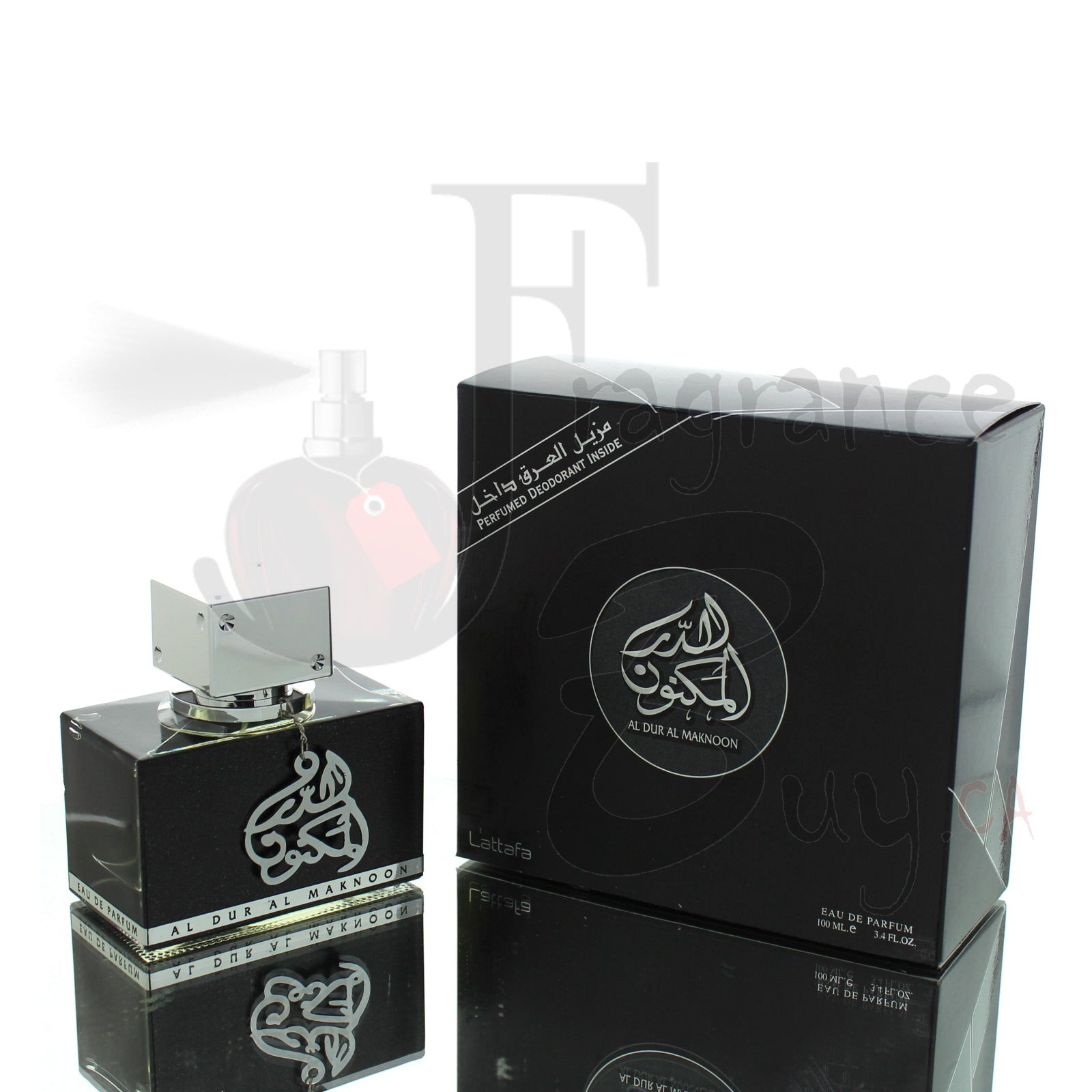 Lattafa Al Dur Al Maknoon Silver (Smoky Aventus Twist) For Man/Woman