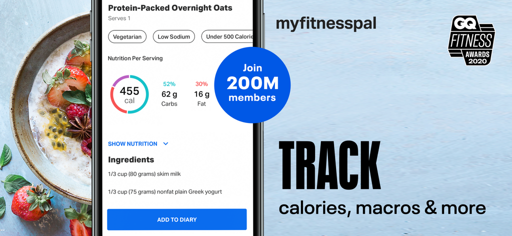 Counting calories with MyFitnessPal
