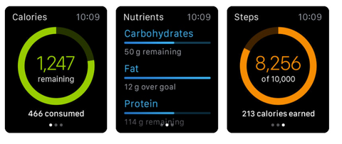 Calorie counting with ControlMyWeight