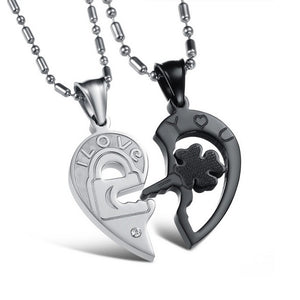 18K White-Gold Plated Lock Necklace Necklace romatco.myshopify.com
