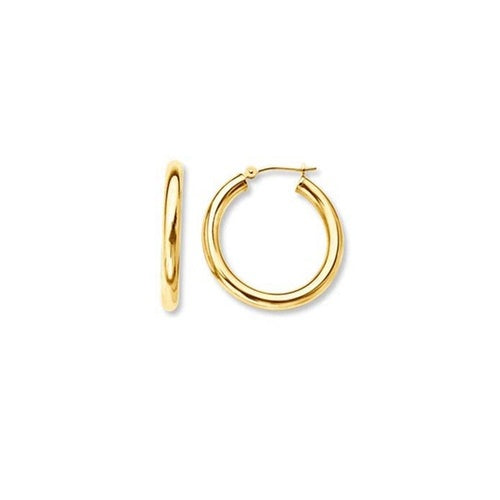 22K Gold Plated Tianna Classic Hoop Earrings-Romatco