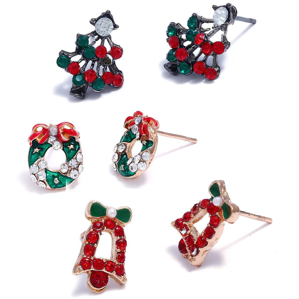 Christmas Stud Earrings-Romatco
