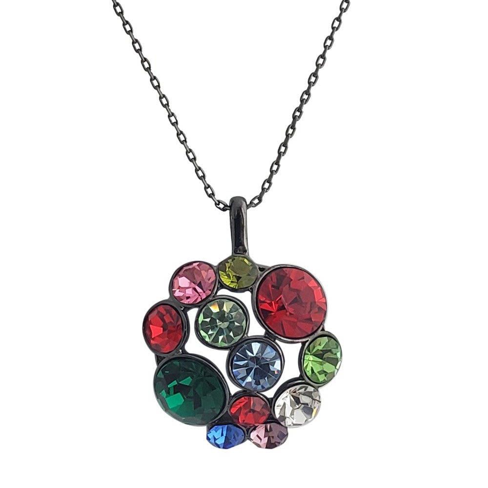 Multicolor Crystal Pendant Necklace - Romatco Jewelry