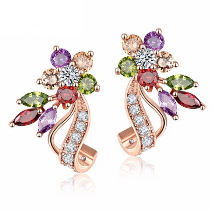 Flora Eliza Stud Earrings-Romatco