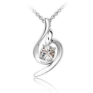 18K White-Gold Plated Gabriella Necklace